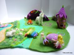 FAIRYLAND Deluxe Felted Playscape© 3in1. up to 6 by FeltLove4U