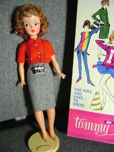 """Mom bought me a """"Tammy"""" doll, to counteract the over-sexed image Barbie who'd been a gift from Grandma. She is half a head taller, nearly flat chested with a thick waist. She had broad shoulders, bushy hair and big feet- a harbinger of body issues to come."""