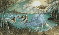 From The Barefoot Book of Ballet Stories, written by Jane Yolen and Heidi E.Y. Stemple, illustrated by Rebecca Guay