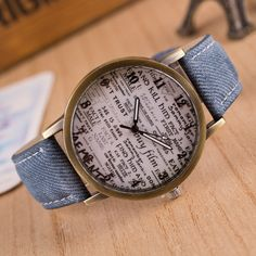 Men watches with text.