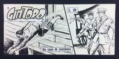 Dell'Acqua, Edgardo - original cover for Gim Toro, 3rd series, no. 7 (1956) - W.B.