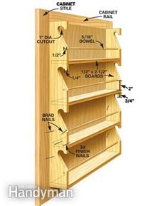 How To Build A Spice Rack Fancy Spice Rack  I Need Something Like This  Diy  Pinterest
