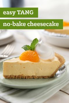 Easy TANG No-Bake Cheesecake – TANG Orange Flavor Drink Mix brings back childhood memories for some of us. Bet you never imagined that one day you'd savor it in a no-bake cheesecake!