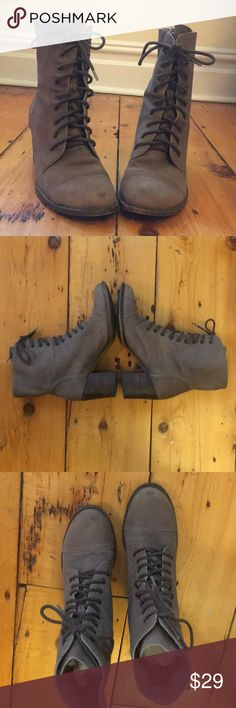 866fe66d23 Suede Vince Camuto lace-up boots Perfect for fall! Great pair of heeled  suede