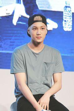 Kai - 160528 Hat's On fanmeeting Credit: Mr. Kai Exo, Chanyeol Baekhyun, Rapper, Hottest Guy Ever, Kim Jongin, King Of My Heart, Exo Members, Korean Beauty, Hot Boys