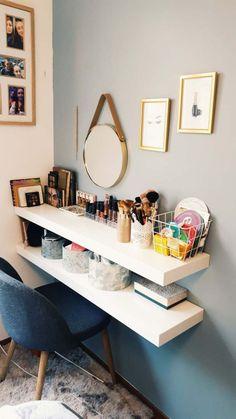 #coiffeuse #coinbeaute #ikea #maisondumonde #rangementmaquillage #makeup