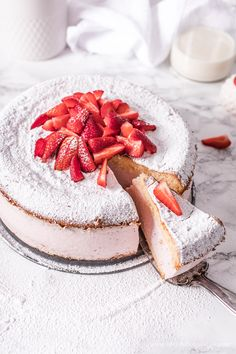 Erdbeer Käsesahne Torte - Life Is Full Of Goodies Strawberry cheese cream cake. With the best cake i Baby Food Recipes, Cake Recipes, Dessert Recipes, Cooking Recipes, Recipes Dinner, Pasta Recipes, Crockpot Recipes, Soup Recipes, Vegetarian Recipes