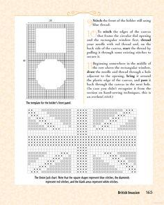Union Jack plastic canvas cross stitch - good for coasters