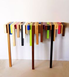 Colorful Table by Damien Hamon of Daha Furniture.