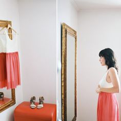 This casual color-blocked one: | 38 Beautifully Modern Wedding Dress Ideas