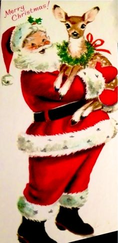 Santa & reindeer. *1500 free paper dolls for Christmas gifts Arielle Gabriels The International Paper Doll Board also free Asian paper dolls at The China Adventures of Arielle Gabriel *