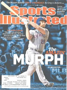Daniel Murphy New York Mets Baseball Sports Illustrated Magazine, Nov 2, 2015 #doesnotapply
