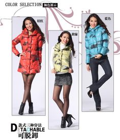 Free Shipping Plus Size Down Jacket Women Winter Coat Outerwear Long And Short Contrast Color Female Duck Down Jackets Removable Type Discount.Sale:$141.35.Surface material: 100% polyester.  In material: 100% polyester.  Packing: 70% grey duck down + 30% feather.Size:S/M/L/XL
