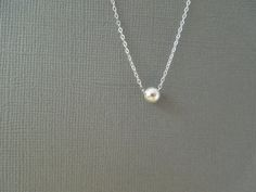 simple everyday jewelry ball necklace delicate by greygoosegifts