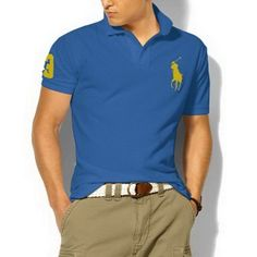 Ralph Lauren Custom Fit Big Pony Polo Shirt Blue [Shop 2135] - $37.66 : Cheap Designer Polo Shirts Outlet Online in US ...