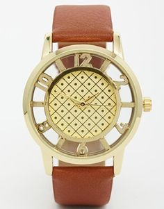 Enlarge ASOS Grid Round Dial Watch