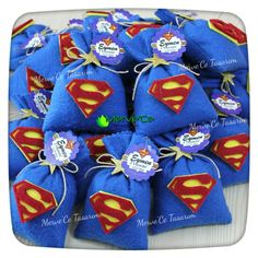 Superman lavender bag Superman Happy Birthday, Captain America Birthday Cake, Superman Party, Avengers Birthday, Superhero Birthday Party, 1st Birthday Parties, Superman Baby Shower, Superhero Baby Shower, Superhero Party Decorations