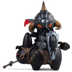 The master of fantasy meets the master of vinyl toys! Frank Frazetta and Frank Kozik mash-up for the interpretation of Frazetta's Death Dealer. This menacing figure features a warrior knight clad in a                                                                                                                                                                                 More