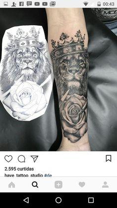 32 of the best lion tattoo ideas for men # tattoo forms - 32 d . - 32 of the best lion tattoo ideas for men # Forms of tattoo – 32 of the best lion tattoo ideas for - Badass Tattoos, Sexy Tattoos, Unique Tattoos, Body Art Tattoos, Tattos, Band Tattoos, Wolf Tattoos, Forearm Tattoos, Mens Wrist Tattoos