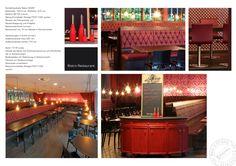 #Einrichtung/#Möblierung #Bistro und #Restaurant. #Polsterbänke mit #Steppung. #Gastronomiemöbel nach Maß, #Objekteinrichtung, #Restauranteinrichtung. www.schnieder.com