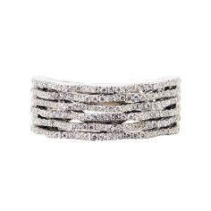 Diamond 'Keystone' Ring (White),Diamond  18K White Gold Ring