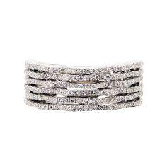 Diamond 'Keystone' Ring (White),Diamond  18K White Gold Ring