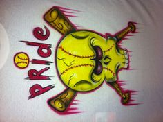 Requested airbrush softball design