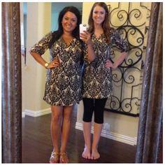 Damask Tunic Dress- $36
