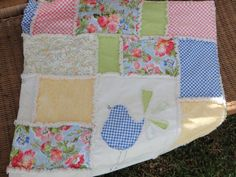 Easy Sewing Pattern Hello Summer  Rag Quilt Spring and by Snipitup, $8.50