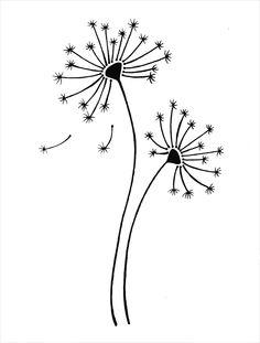 Free Printable Dandelion Stencils Dandelion Plus Lots