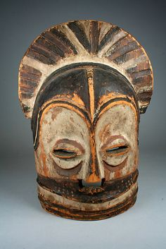 Africa | Mask from the Luba or Songye people of DR Congo | Wood and pigment | 19th - 20th century