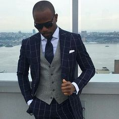 The beauty of a contrasting waistcoat. Is this a look you constantly wear?