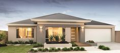 View our Custom Two Storey Homes Designs, find Display Homes & more. Modern Bungalow House, Bungalow House Plans, Modern House Plans, Modern House Design, Rendered Houses, Free House Plans, Casas The Sims 4, Exterior Paint Colors For House, Storey Homes