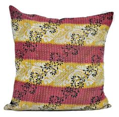 wholesale lot of indian kantha cushion covers boho decorative sofa pillow -