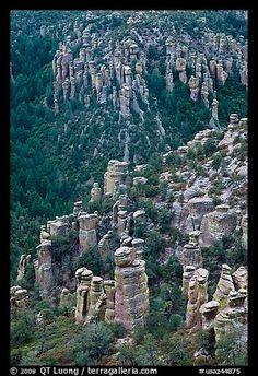 Rhyolite columns. Chiricahua National Monument, Arizona, USA
