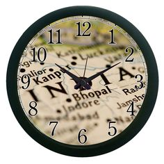 India Wall Clock (With Glass)