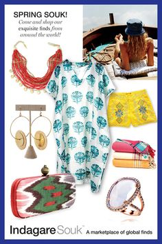 Spring Souk fashion board. Shop their spring edition May 7, 8 and 9th.