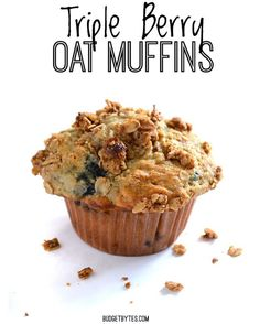 Triple Berry Oat Muffins A Legit Breakfast!  1 cup all-purpose flour $0.19   cup whole wheat flour $0.10  1 cup rolled oats $0.26   cup brown sugar $0.16   cup white sugar $0.08   tsp salt $0.02  1 Tbsp baking powder $0.11   tsp cinnamon $0.02  1 cup milk $0.49   cup vegetable or canola oil $0.16  2 large eggs $0.75  1 cup frozen berries $1.00  OAT CRUMBLE TOPPING   cup rolled oats $0.13  2 Tbsp chilled butter $0.28  2 Tbsp brown sugar $0.08   tsp cinnamon $0.02  Link in bio…