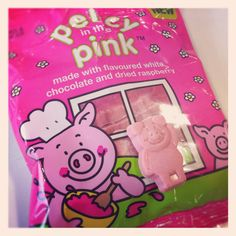 Percy in the pink! #percypig #chocolate #sweets