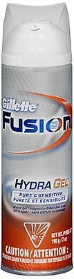 Shaving Creams Foams and Gels: Gillette Fusion Hydragel Shave Gel Pure - Sensitive 7 Oz (Pack Of 8) BUY IT NOW ONLY: $38.47