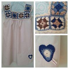 Dress. Crotchet topp, Tilda fabric.