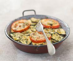 Gratin de courgette et tomate