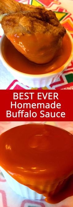 This homemade Buffalo sauce recipe makes the best Buffalo wings sauce ever! So s… This homemade Buffalo sauce recipe makes the best Buffalo wings sauce ever! So spicy and full of flavor, I'll never have the bottled Buffalo sauce ever again! Buffalo Chicken Sauce, Homemade Buffalo Sauce, Homemade Sauce, Buffalo Sauce Recipes, Homemade Recipe, Buffalo Hot Wings Recipe, Homemade Wings, Sauces, Dressings