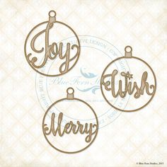 Blue Fern Studios - Chipboard - Word Ornaments - These gorgeous laser-cut chipboard pieces will add dimension and elegance to any paper-crafting project. Use it bare on your Winter scrapbook layouts, or alter with inks, mists, paint, or embossing powder, and make it the focus piece on your handmade Christmas cards. Add stamped designs for a unique look, or texture mediums to bring your mixed media projects to life! Scraps of Darkness and Scraps of Elegance