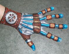 Steampunk hand painting