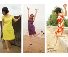 the Dandelion Dress & Top #sewing Pattern by Disparate Disciplines can be made 6 different ways #DandelionDress