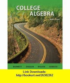 Student Solutions Manual College Algebra (9780077297183) Raymond Barnett, Michael Ziegler, Karl Byleen , ISBN-10: 0077297180  , ISBN-13: 978-0077297183 ,  , tutorials , pdf , ebook , torrent , downloads , rapidshare , filesonic , hotfile , megaupload , fileserve