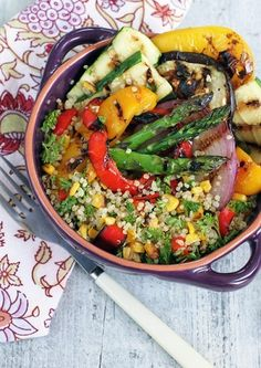 Grilled Veggie Quinoa Salad - 18 4th of July Recipes