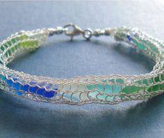 Seaglass Jewelry - ocean in a net by Ecstasea, via Flickr