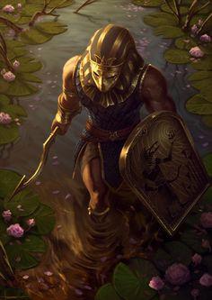 Guardian of the Nile, Lucas Torquato on ArtStation at https://www.artstation.com/artwork/nyYae